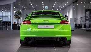 Porsche 918 Lime Green - 2017 audi tt rs in lime green looks like a tiny exotic car
