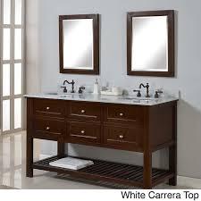 42 Inch Double Vanity Direct Vanity 60 Inch Mission Spa Dark Brown Double Vanity Sink