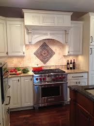 kitchen backsplash medallion powell ohio kitchen remodel features a tumbled backsplash