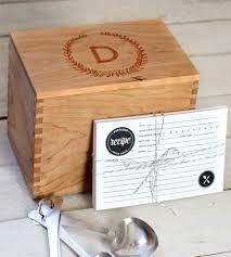 custom wreath design heirloom recipe box with recipe cards home