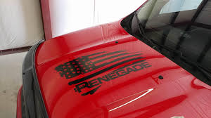 jeep hood decals jeep renegade hood decal or flag decal your choice