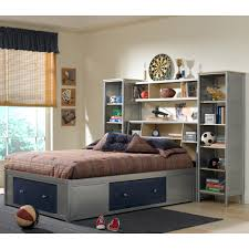 kids bed design twin bed with bookcase headboard and storage