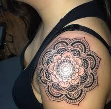 shoulder tattooo mandala shoulder cap tattoo original tattoo ideas pinterest