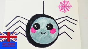 how to draw a kawaii spider for halloween cute spider as
