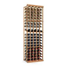 wine enthusiast n u0027finity 90 bottle natural floor wine rack 618 50