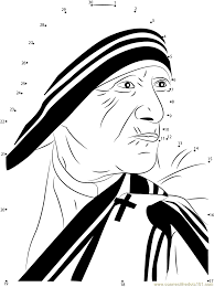 mother teresa dot to dot printable worksheet connect the dots