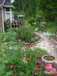 Cottage Gardening Ideas Cottage Garden Ideas With Small Iron Fence As The Additional