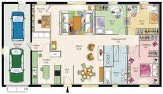 plan de maison de plain pied avec 3 chambres modèle de plan de maison plain pied avec 3 chambres et garage 2