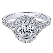 gold pave rings images 14k white gold pave shank and oval diamond halo 14k white gold jpg