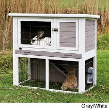 trixie rabbit hutch with sloped roof free shipping today