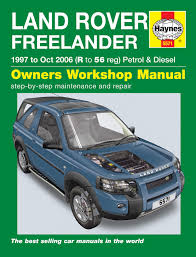 land rover freelander workshop u0026 owners manual free download