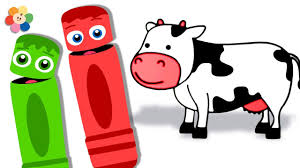 learn colors for kids coloring farm animals learn colors with