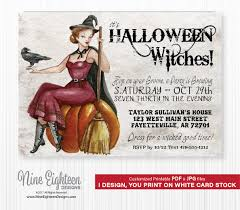 crafty in crosby halloween party invitations with template free