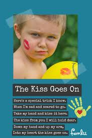 kissing family thanksgiving the kiss goes on a kissing hand poem for soothing separation