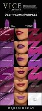 shades of purples vice lipstick deep plums purples