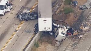 big rig crash closes lanes on westbound 210 freeway in pasadena