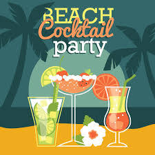 cocktail party cartoon beach cocktail party vector illustration photoshop vectors