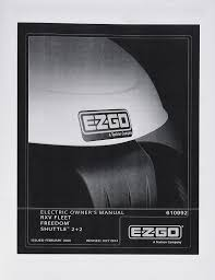 amazon com ezgo 610992 2009 2010 owners manual for electric