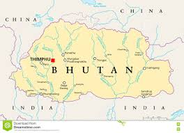 Asia Rivers Map by Bhutan Political Map Stock Photo Image 73977654