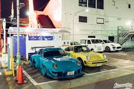 rwb porsche yellow rwb porsche meet at roppongi japan stancenation form