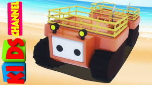 evacuation craft 3d vehicle cartoon cars video for kids