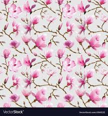 magnolia flowers magnolia flowers background royalty free vector image