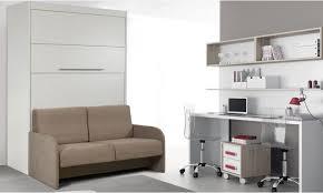 canap lit mural lit rabattable avec canapé intégré collection rome