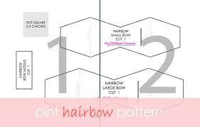 hair bow templates felt bow template printable felt bow tutorial treasurie