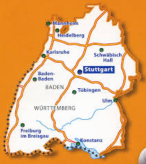 map of germany map germany south west 1 300 000