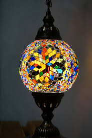 snowflake multi coloured globe table lamp the dancing pixie