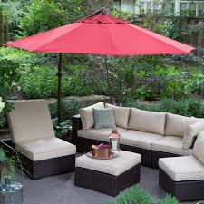 Patio Umbrellas Covers Superb Outdoor Garden Living Room Decor Featuring Wicker Furniture