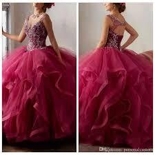 burgundy quince dresses burgundy quinceanera dress 2017 v neck open back