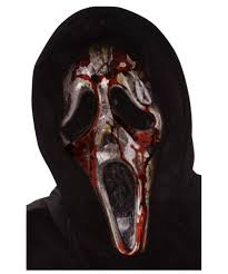 White Mask Halloween Costume by Ghost Face Bleeding Zombie Mask Men Halloween Costumes