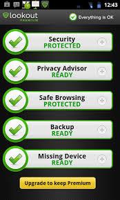 lookout security and antivirus premium apk mobile security app shootout part 9 lookout security antivirus