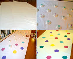 gold polka dot table cover polka dots event lucky