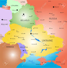 map of belarus vector color map of belarus and ukraine country royalty free