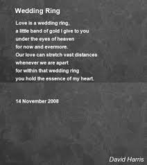 about wedding rings images Wedding ring poem by david harris poem hunter jpg