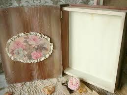 lace home decor wooden box vintage book decoupage eco friendly artisan home decor