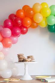 how to make a balloon arch mini rainbow balloon arch diy