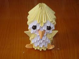 3d origami beginner tutorial 3d origami chick tutorial youtube