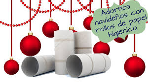 christmas ornaments with rolls of toilet paper 10 very easy
