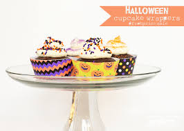 halloween cupcake wrappers free printable scattered thoughts