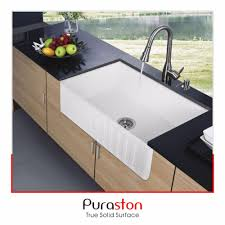 Brand New Design Ceramic Material Apron Malaysia Kitchen Sink - Kitchen sinks ceramic