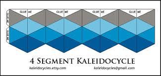 kaleidocycles amazing dynamic papercraft 10 steps