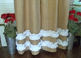 Burlap Ruffle Curtains 63 Best Shower Curtains Curtain Panels Images On Pinterest