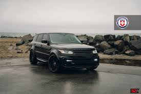 land rover burgundy black range rover sport on hre s200h wheels in satin black black