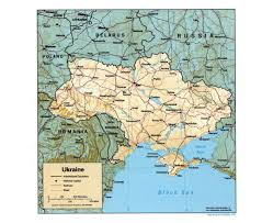 Map Of Ukraine And Crimea Maps Of The Ukraine Detailed Map Of The Ukraine In English And