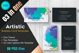 Studio Visiting Card Design Psd Artistic Business Card Template 002 Business Card Templates