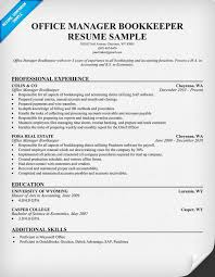 Cra Sample Resume by Office Manager Bookkeeper Resume Samples Across All Industries