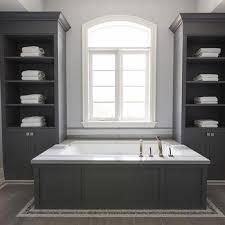 Built In Bathroom Cabinets Gray Built In Bathroom Cabinets Design Ideas